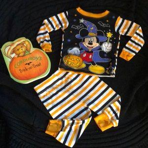 Disney Mickey Mouse Halloween Pajamas Size 12 mo
